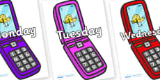 Days of the Week on Mobiles