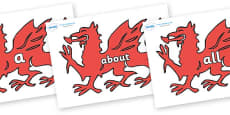 100 High Frequency Words on Welsh Dragons