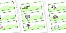Monkey Puzzle Tree Themed Editable Drawer-Peg-Name Labels