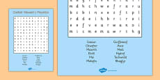 Months of the Year Wordsearch Cymraeg
