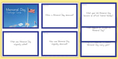 Memorial Day Challenge Cards