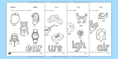 Phase 3 Trigraph Colouring Sheets Pack