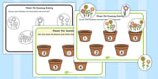 Flower Pot Counting Cut and Stick Activity