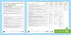 AQA Chemistry Unit 4.7 Organic Chemistry Student Progress Sheet
