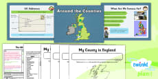 PlanIt - Geography Year 3 - The UK Lesson 3: Around the Counties Lesson Pack