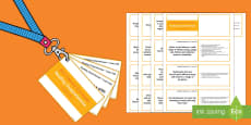 Lower KS2 Lanyard Sized Reading Comprehension Objectives Cards