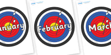 Months of the Year on Colour Targets