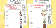 Australia - Royal Family Word and Picture Matching Worksheet