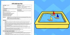 Boat Race EYFS Adult Input Plan and Resource Pack