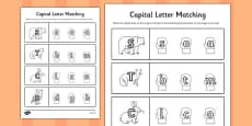 The Mitten Themed Capital Letter Matching Worksheet