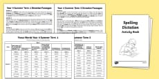Year 4 Summer Term Spelling Dictation Passages Assessment Pack