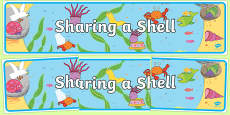 Display Banner to Support Teaching on Sharing a Shell