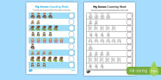 My Senses Counting Activity Sheet