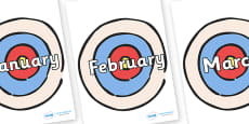 Months of the Year on Targets