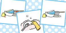 3 Step Sequencing Cards: Washing Up