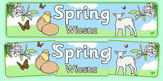 Spring Display Banner Polish Translation