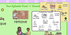Two Syllable Final 'V' Sound Word Mat
