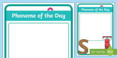 * NEW * Phoneme of the Day Display Poster