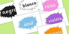 Spanish Colour Words on Splats