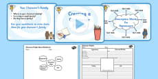 Writing and Creating a Character Profile Differentiated Lesson Teaching Pack
