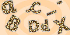 Leopard Pattern Display Lettering