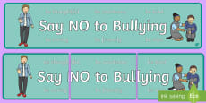 Say No To Bullying Display Banner