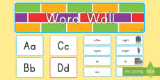 1st Grade Word Wall