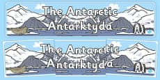 The Antarctic Display Banner Polish Translation
