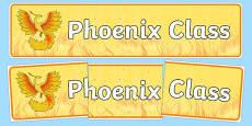 Phoenix Themed Classroom Display Banner
