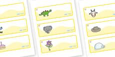 Topaz Themed Editable Drawer-Peg-Name Labels