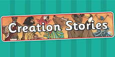 Creation Stories Display Banner