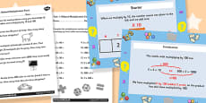 Deriving Related Multiplication Facts Differentiated Lesson Teaching Pack