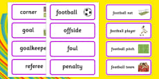 Rio 2016 Olympics Football Word Cards