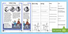 * NEW * Father's Day Differentiated Reading Comprehension Activity English/German