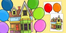 Editable Floating House Display Pack