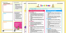 Sand Area Continuous Provision Plan Posters 16-26 to 40-60 Months