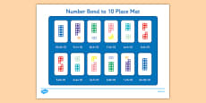 Number Bond to 10 Place Mat