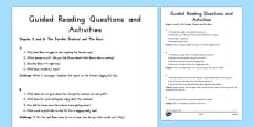 Guided Reading Questions Chapters 5 and 6 to Support Teaching on Fantastic Mr Fox