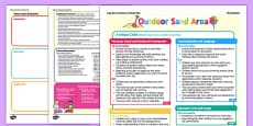 Outdoor Sand Area Continuous Provision Plan Posters Reception FS2
