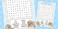 The Tale of Mrs Tiggy Winkle Wordsearch (Beatrix Potter)