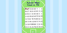 AFL Australian Football League Counting in 10s Maze