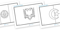 Flags of the World Colouring Sheets