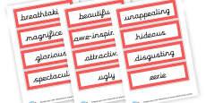 Setting Description Vocab Cards