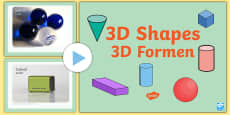 * NEW * 3D Shapes PowerPoint English/German