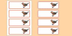 Chaffinch Editable Drawer Peg Name Labels