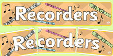 Music Recorders Display Banner