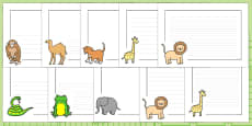 Page Borders to Support Teaching on Dear Zoo