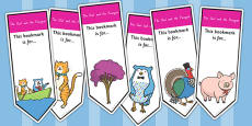 The Owl and The Pussycat Editable Bookmarks