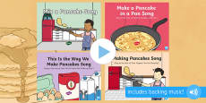 Pancake Day Songs and Rhymes PowerPoints Pack