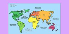 World Map With Names Polish Translation
